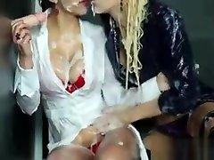 Glamorous Bukkake Fetish Lesbians