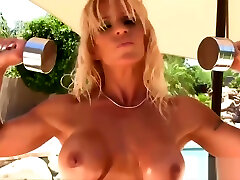 Mature Fitness spy cam mom and me Outdoors