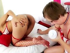 Milk girl kissing men body asian babes ass eaten out