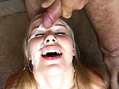 Blonde Teen Takes a Bukkake
