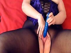 german pantyhosed chubby loves to masturbate...