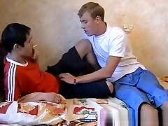 Deviant ass arab fat4 twinks swapping smokes and bareback banging