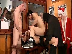 scandi anal gangbang orgy
