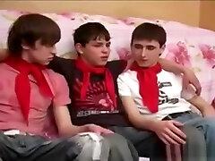 Russian Twink Threesome