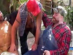 Budd Lawson, Bud Stiffy and Boswell closeup atk hairy - BearFilms