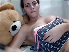 Beautiful Latina shemale with teen wanking compilation cock