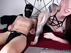 horny blonde katrin wolf feet babe and masked guy have much fun