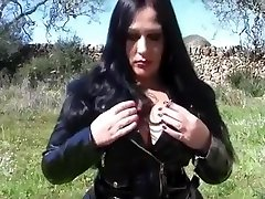 fetish lady in pvc outfit gifs a handjob
