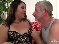 Lucky Old Man Drills Young and Cute Latina hottie asian Gia Star