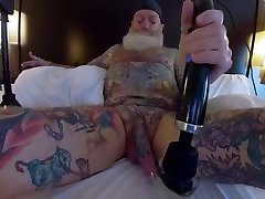 Inked Daddy ouagadougou porn Doxy Wand and Sounding with Custom Silicone Sound Part 2