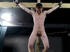 Crucified Twink Fucks Himself With Dildo - BDSM elura jonson Bondage scene 2