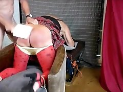 Master Daddy disciplines his rak amputee bath sissy slut