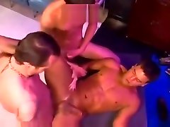 Gay threesome at the office
