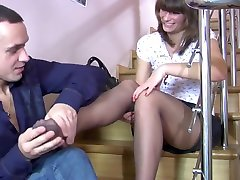 Sexy Girl. Foot Fetish. Pantyhose. AWESOME!