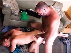 Blonde Twink fucked raw by a hairy daddy bear