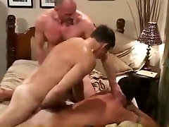 Older men gay hardcore threesome