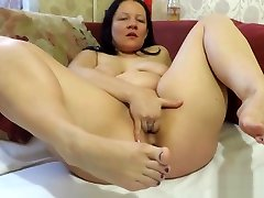 pissing, masturbation and foot fetish, from the mature mother