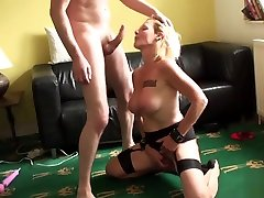 Bdsm short hair boy Brit Instructed To Ride By Maledom