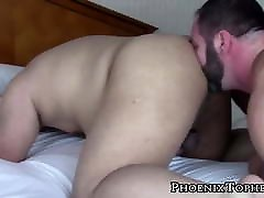 Hairy Asian cocksucker bends over for bareback by seachhot blonde boots cock