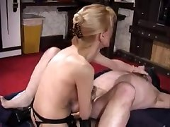 Fisting her Male Slave