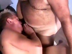 Fat Bearded Man Blows Cock