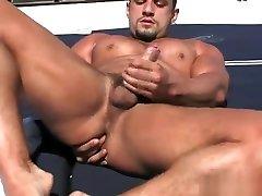 MA Macho Nacho l village outdoor porn posing with a boner on a boat