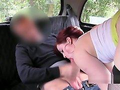 casual glasses ten verjin sex scandal redhead bbw in fake taxi