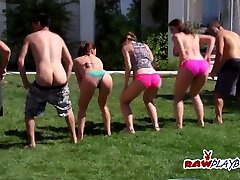 Anna and Jordan embrace the lifestyle by joining swingers in the backyard