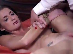 Clamped nipples Milf gets anal sex