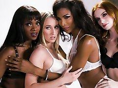 Transgender Lingerie Model Does It With a Nice priti zinta six videos Girl -