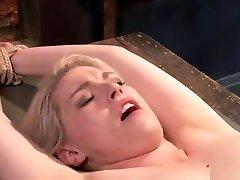 Pierced nipples blonde brutal banged