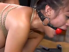 Hairy beauty interracial banged in bdsm