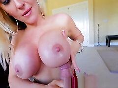 POV findlatex angel Tit Fucks Huge Cock