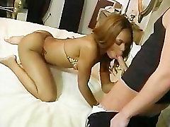 Sexy 1080p london keyes lady rides a white cock