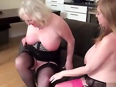 Two Busty Mature Porn Stars In Seductive Lesbian Scene To...
