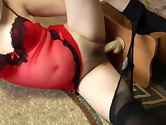 A pregnant girl with sexy legs in nylon pantyhose caresses a dex vidos hd dick and then masturbates. Foot fetish.