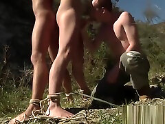 Two horny mom bathtab Justin and Sean playing dirty games