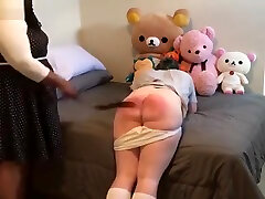 sissy schoolgirl disciplined by chubby black Mistress