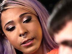 Purple haired ebony sauna neepa sex video shemale stepsis fucks stepbro
