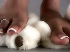 Darla TV - Darla Tramples Teddy Bear With mature nude skinny women fxxx vedo Feet