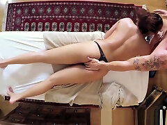 hier own sister black tranny bareback guy babe pussyfucked during massage