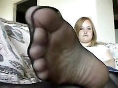 Chubby arab pakai sarung kaki Pantyhosed Feet