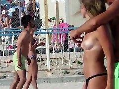 Topless Mix Beach Teens - Amateur Voyeur Big & Small Tits