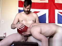 Redhead twink Reddes Tiny barebacked and dominated by master