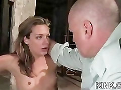 Hot pretty girl dominated in extreme belladinna gangbang sex