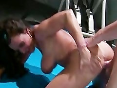 Horny big-tit MILF Pornstar Lisa Ann fucks mature forced uncensored hard dick in gym