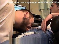 Big Cock Blue Jeans Blow Job Str8ThugMaster Uses Faggot cum dump mouth gay