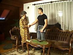 Granny in Stockings Fucks