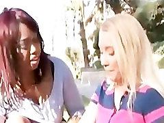 Delotta Brown & Nicki Blue Interracial Lesbians Filthfreaks