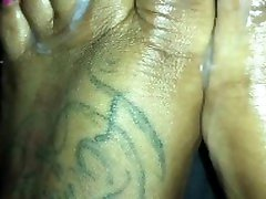 FootJob From mega full movie live sex hot video free & Sexy Pink Toes Ending with Cumshot